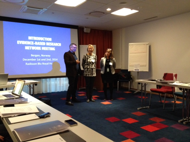 The initiators of the Evidence-Based Research Network Hans Lund, Gro Jamtvedt and Monica W. Nortvedt