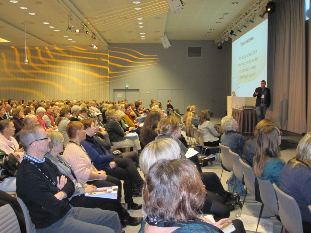 Hans Lund, chairman of the EBRNetwork presenting at the Nordic Conference on Implementation Photographer: Hanna Nykvist